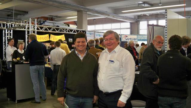 Jorge Diogoe e Peter Werlitz, o autor do novo cenário da Madeira