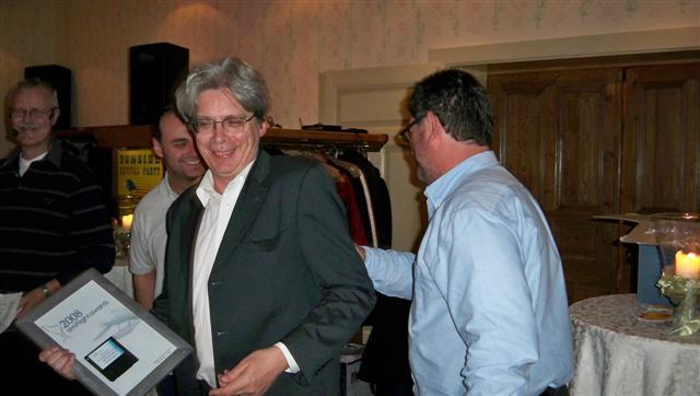 Mathijs Kok (Aerosoft) recebe alguns dos prémios