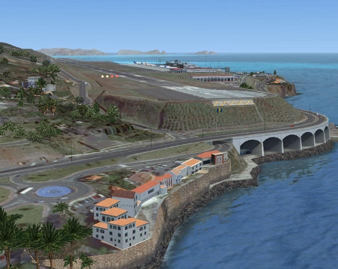O aeroporto da Madeira, assim como o do Porto Santo foram construidos com um