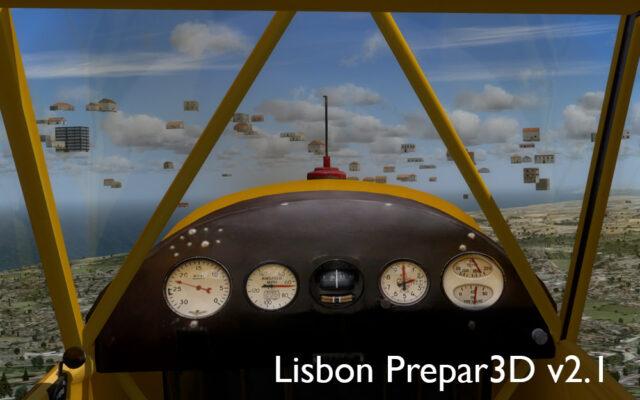 Um bairro inteiro supenso nos ares entre Lisboa e Sintra. Um  mistério do Prepar3D.